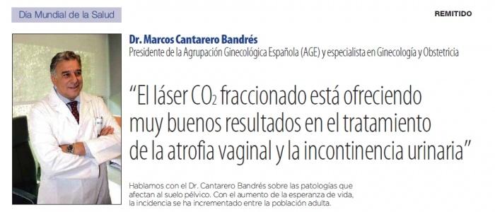 El doctor Marcos Cantarero explica  los lectores de El Mundo las ventajas del láser de CO2 fraccionado